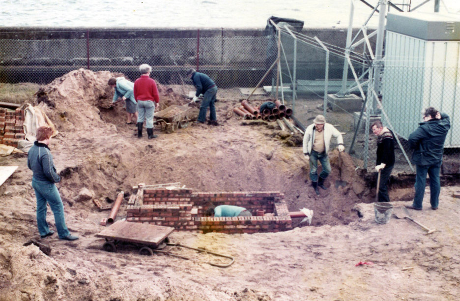 Building of the septic tank