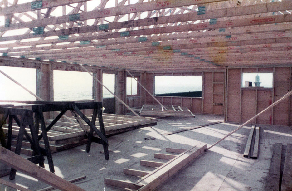 Erection of the timber frame