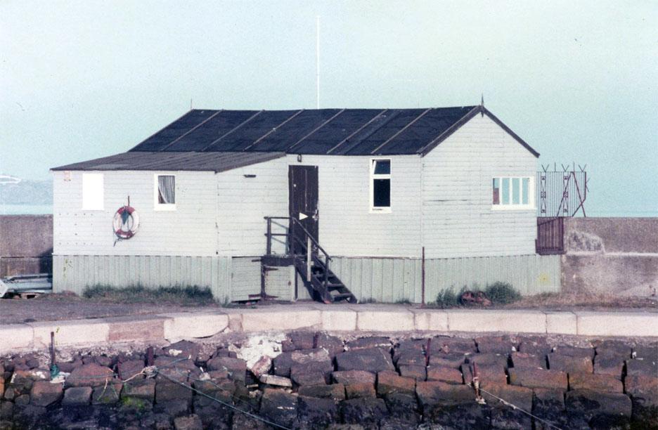 The old dockyard hut before demolition