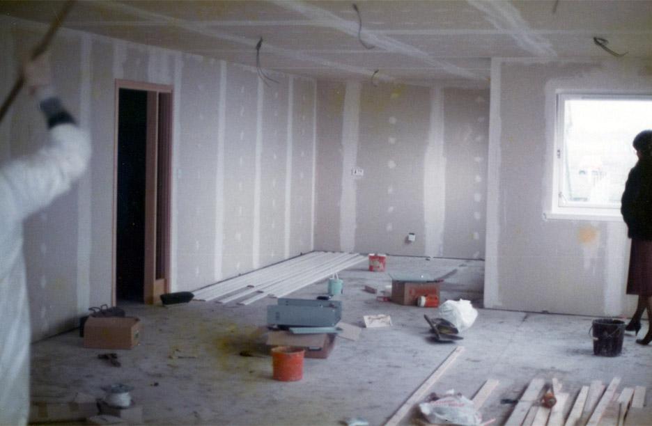 Preparation of internal walls