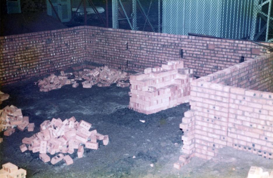 Brickwork layer taking shape